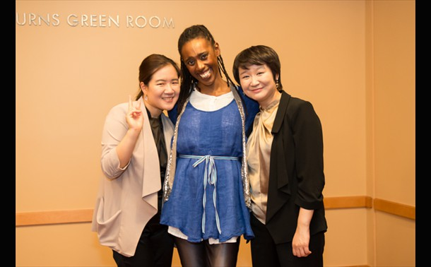 Duo Yoo and Kim with Lenelle Moise